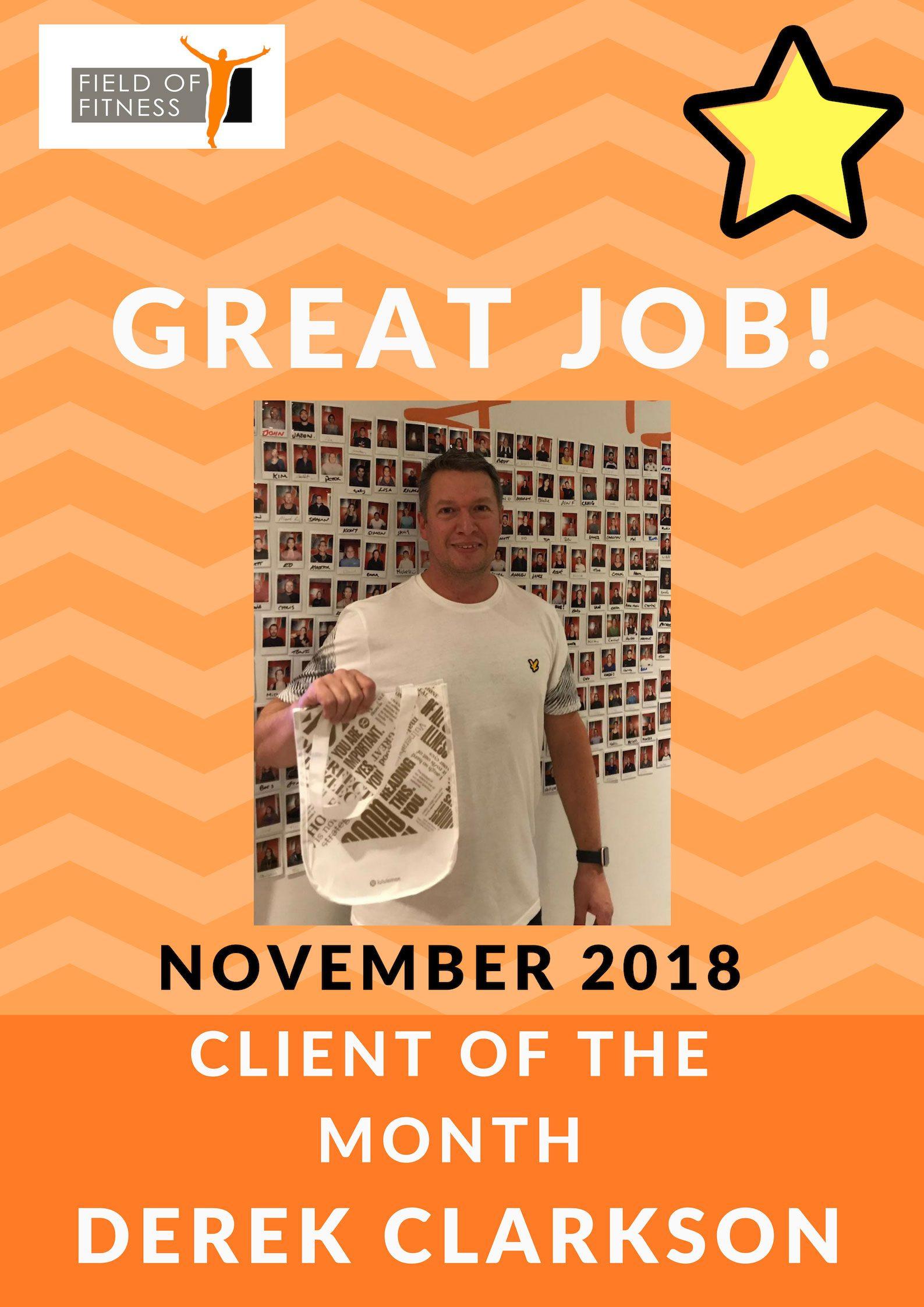 November Member of the month - Derek