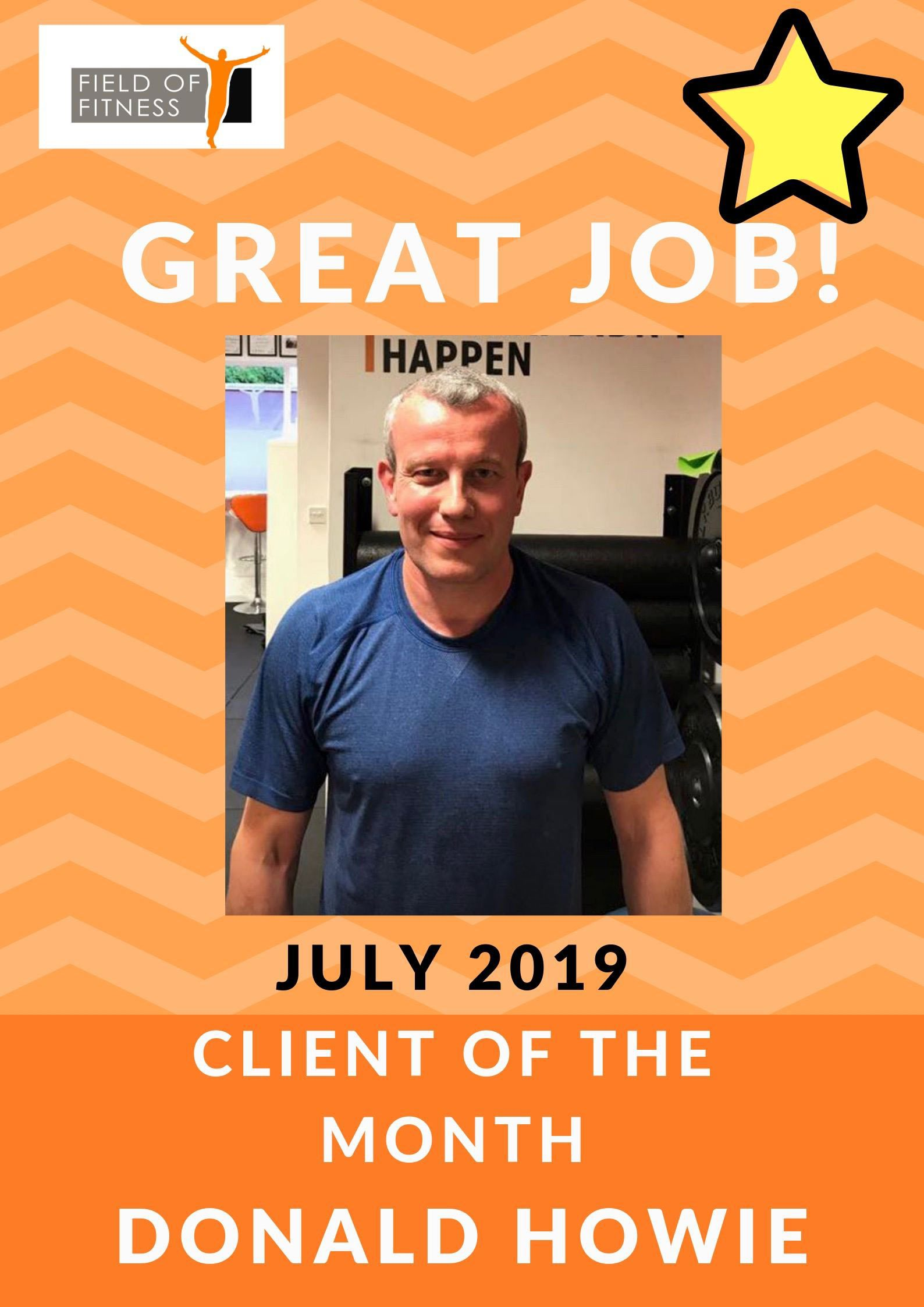 Field of Fitness July 2019 Member of the month